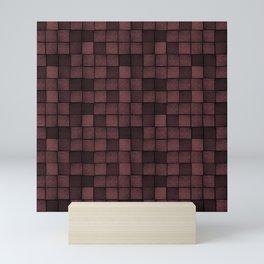 Wood Blocks-Oxblood Mini Art Print