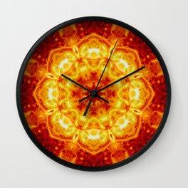 Sun Lotus Mandala Wall Clock