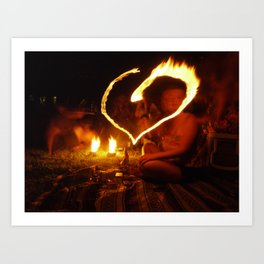 Hearts Afire Art Print
