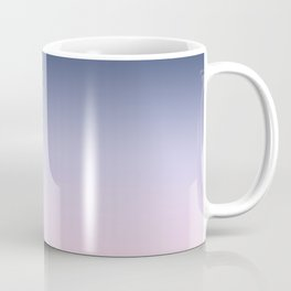 Blue Lilac Millennial Pink Ombre Gradient Pattern Coffee Mug