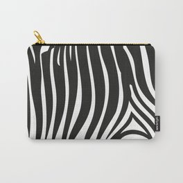 Zebra Stripes   Black and White Carry-All Pouch