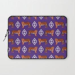 Tiger Clemson purple and orange university fan varsity college football Laptop Sleeve