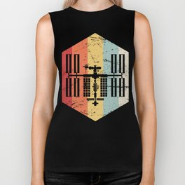 Retro ISS International Space Station Icon Biker Tank