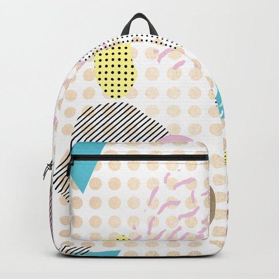 Simply Metallic Memphis Dots Backpack