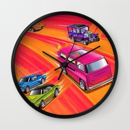 Vintage Redline Hot Wheels Sweet Sixteen Era Trade Print Poster Wall Clock