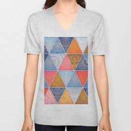 Pattern Mandala Losange Unisex V-Neck
