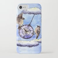 clock iPhone & iPod Cases featuring Clock by Anna Shell