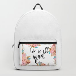We're all mad here - golden floral Backpack