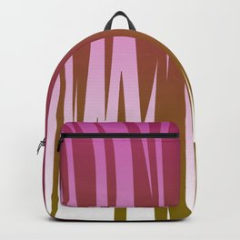 WILD LINES : Pink with gold elements Backpack
