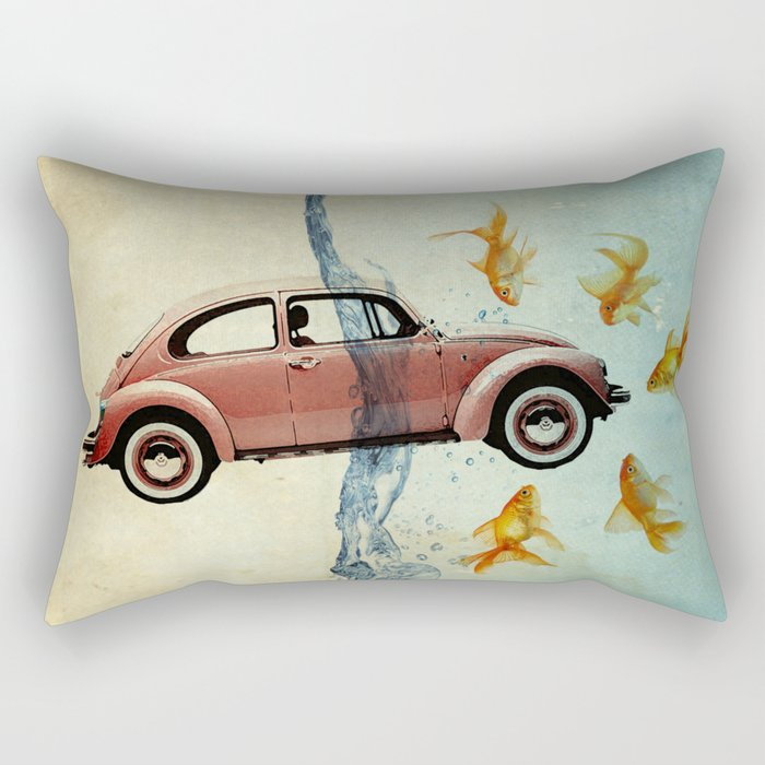 Bug and goldfish Rectangular Pillow