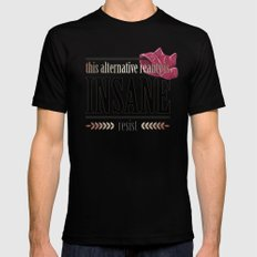This Alternative Reality MEDIUM Mens Fitted Tee Black