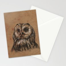 Owl Sketch Stationery Cards