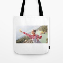 holy river flows happily Tote Bag