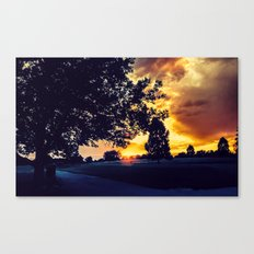 Sunset: City Park, Denver Canvas Print