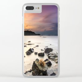 Stony Shore at Sunset Landscape Clear iPhone Case