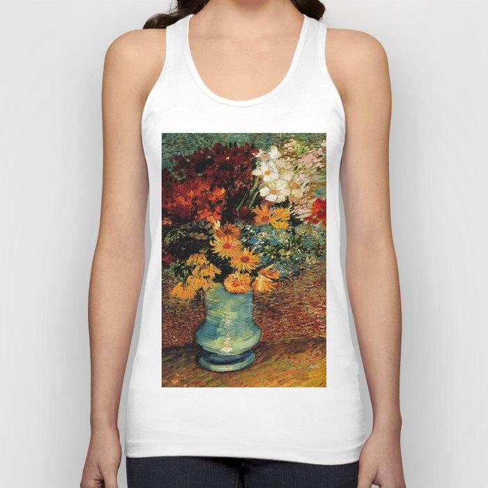 Van Gogh, vase– Van Gogh,Vincent Van Gogh,impressionist,post-impressionism,brushwork,painting Unisex Tanktop