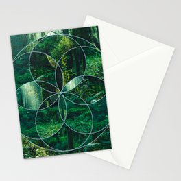 Deep Woods Geometry Stationery Cards