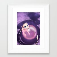 mew Framed Art Prints featuring Mew by Sunny