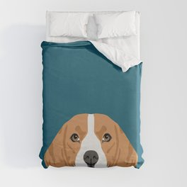 Lenon - Beagle gifts for pet owners and dog person with a beagle Duvet Cover