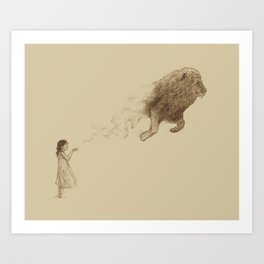 Sandy the Lion Art Print