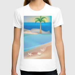 Turks and Caicos - Skyline Illustration by Loose Petals T-shirt