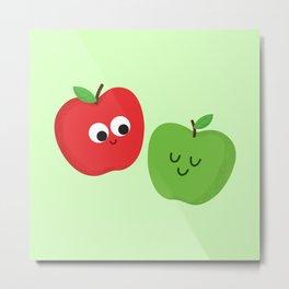 Happy Apples Metal Print