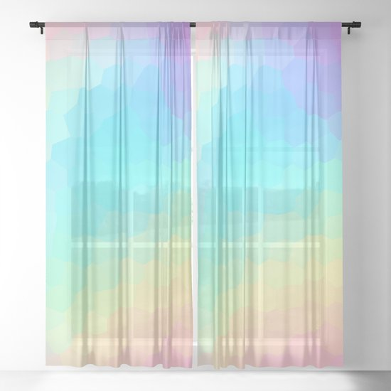 Pastel Rainbow Gradient With Stained Glass Effect by kelseylovelle