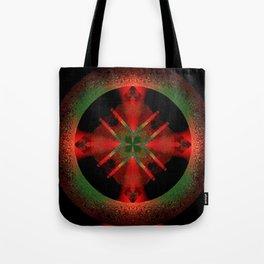 Spinning Wheel Hubcap in Scarlet Tote Bag