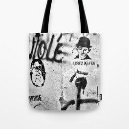LISEZ KAFKA in PARIS Tote Bag