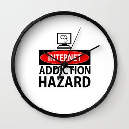 Internet – addiction hazard Wall Clock