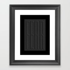 Fear Fence Framed Art Print