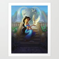 jasmine Art Prints featuring Jasmine by KATIE PAYNE