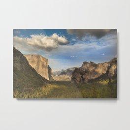 Tunnel View, Yosemite at Sunset Metal Print