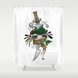 Symbolic Sword Shower Curtain