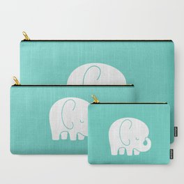 Mod Baby Elephant Teal Carry-All Pouch