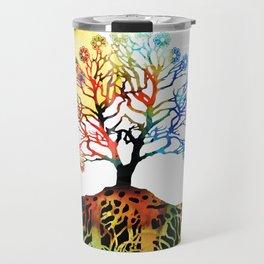 Spiritual Art - Tree Of Life Travel Mug