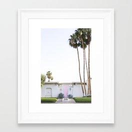 That Pink Door, Palm Springs Framed Art Print