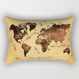 world map 75 Rectangular Pillow