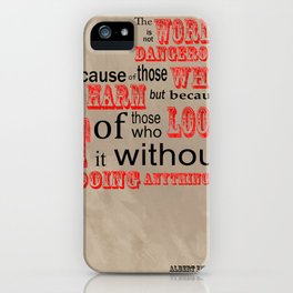 Food for thought-The world we live in iPhone Case