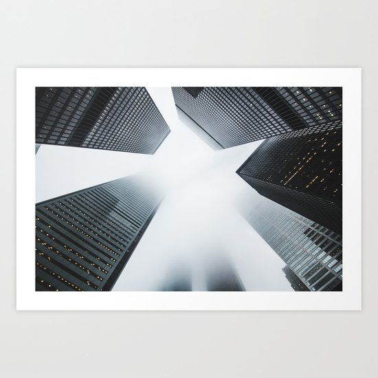 Hyper Fog - New York City Art Print