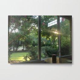 Meditation Window Metal Print