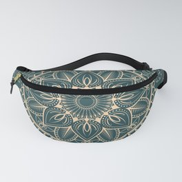 Petrol-Green and Yellow mandala I Fanny Pack