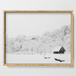 Winter Forest (Black and White) Serving Tray