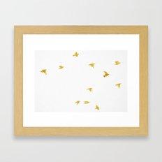 Raven Birds in Gold Cooper Bronze Framed Art Print
