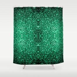 Beautiful Emerald Green glitter sparkles Shower Curtain