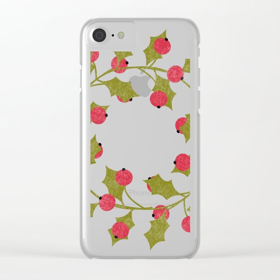 Holly Clear iPhone Case