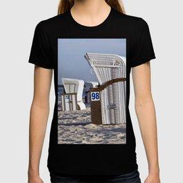 White Beach Chairs T-shirt