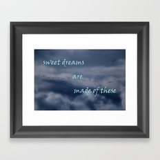 goose dreams Framed Art Print