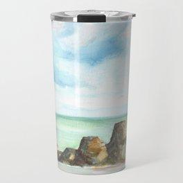 2019 Watercolor Sea Scape Series 001 Watercolor Painting Travel Mug