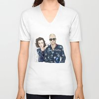 lv V-neck T-shirts featuring The LV Squad by Art of Nanas